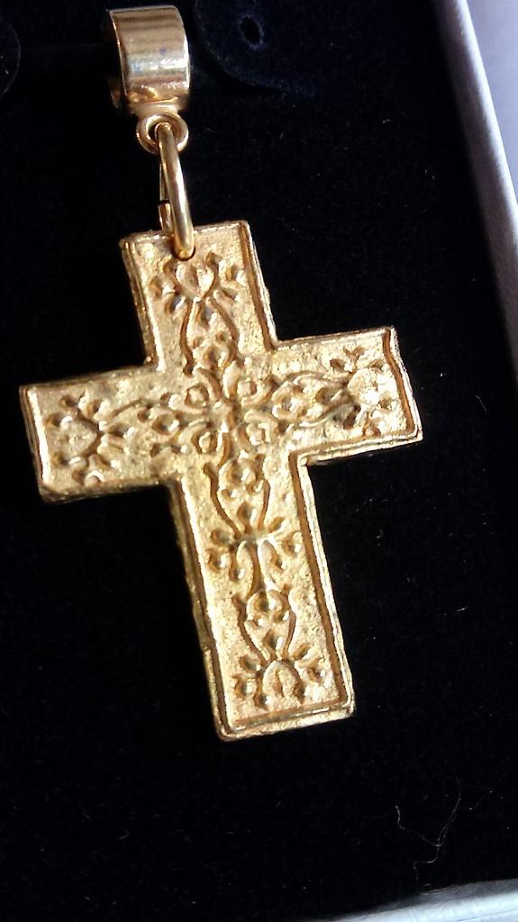 Handmade kukui blossom cross pendant aloadofball Choice Image